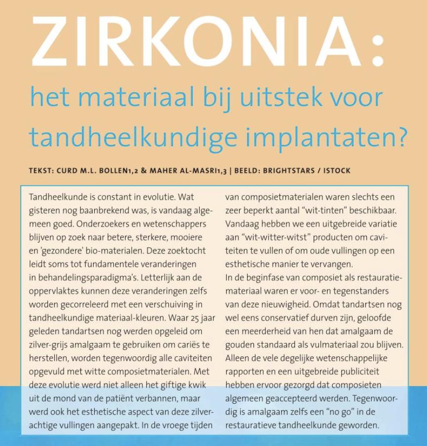 Artikel 3: zirconia implantaten